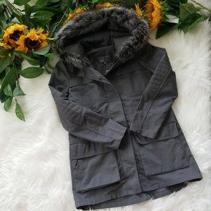 NWOT Vince Faux Fur Trimmed Hood Anorak